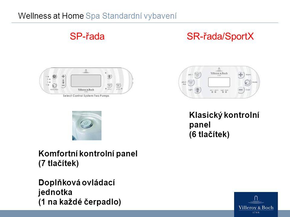 SP-řada SR-řada/SportX Wellness at Home Spa Standardní vybavení