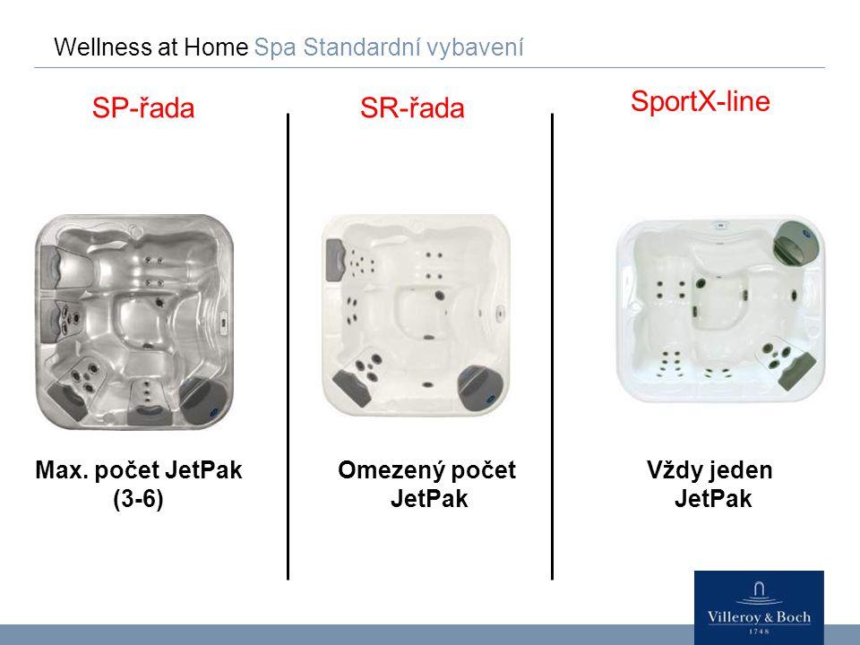 SportX-line SP-řada SR-řada Wellness at Home Spa Standardní vybavení