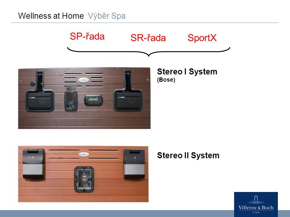 SP-řada SR-řada SportX Wellness at Home Výběr Spa Stereo I System