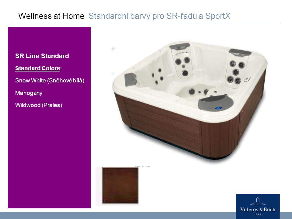 Wellness at Home Standardní barvy pro SR-řadu a SportX