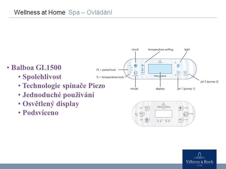 Technologie spínače Piezo Jednoduché používání Osvětlený display