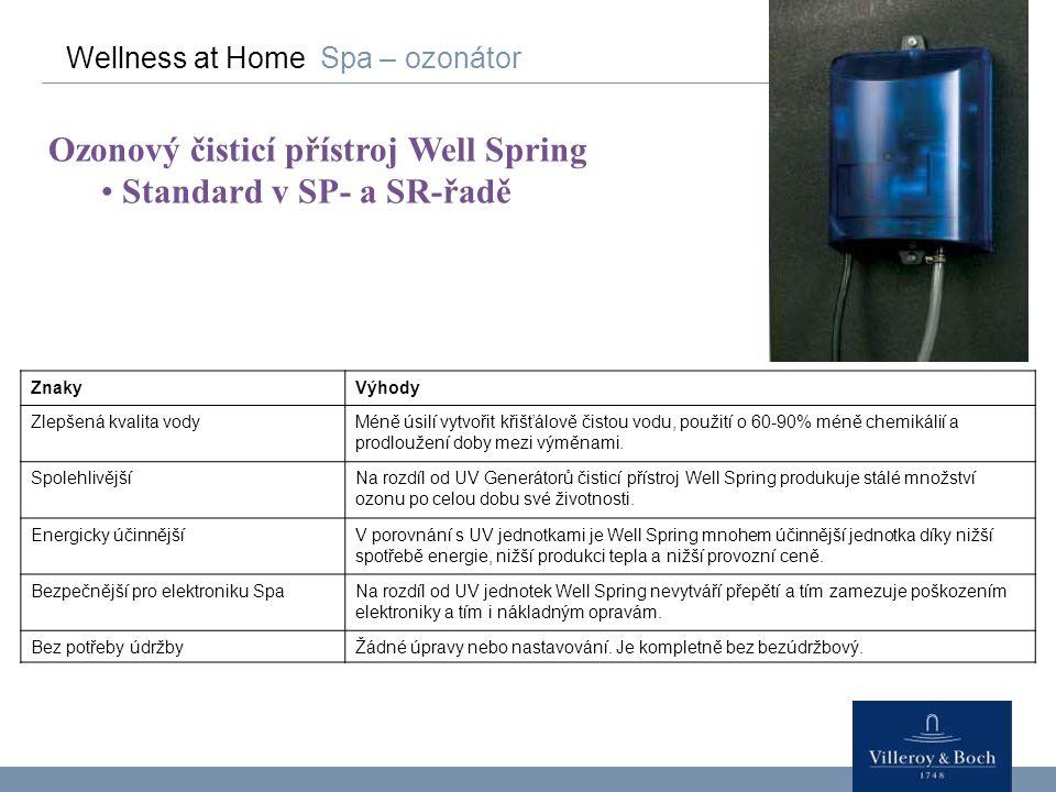 Ozonový čisticí přístroj Well Spring Standard v SP- a SR-řadě