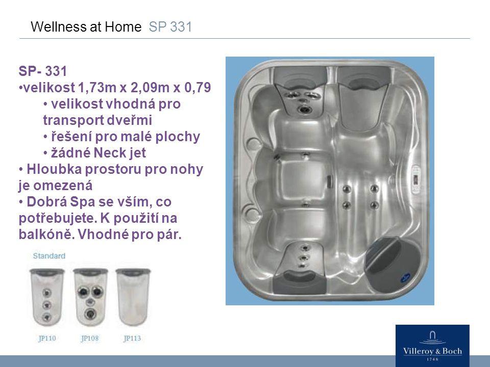 Wellness at Home SP 331 SP- 331. velikost 1,73m x 2,09m x 0,79. velikost vhodná pro transport dveřmi.