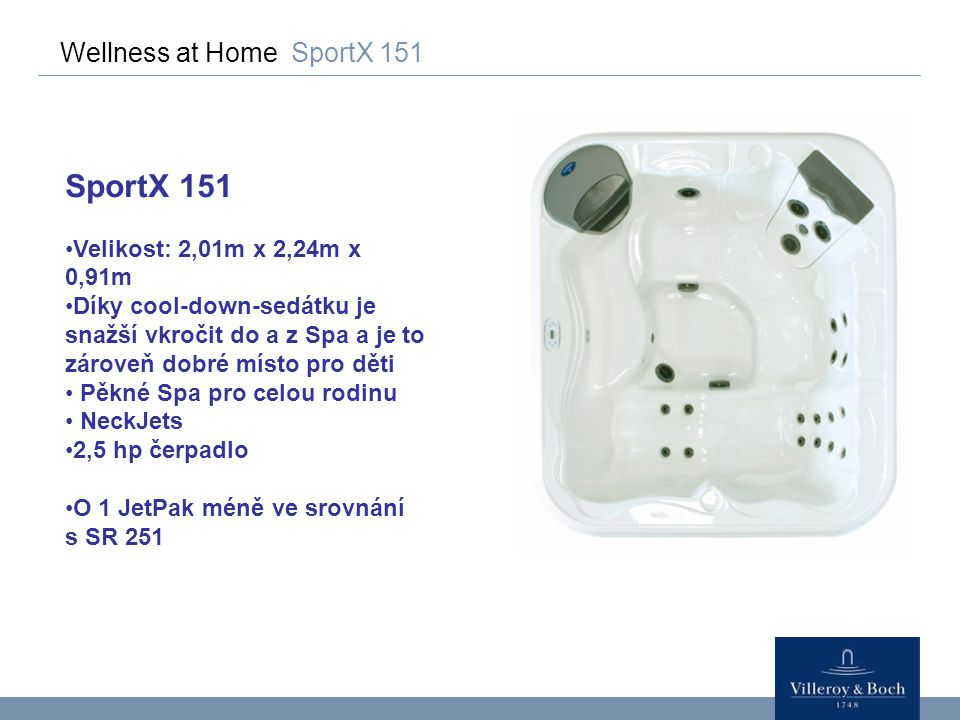 SportX 151 Wellness at Home SportX 151 Velikost: 2,01m x 2,24m x 0,91m