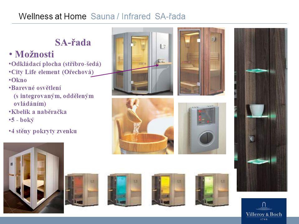 SA-řada Možnosti Wellness at Home Sauna / Infrared SA-řada