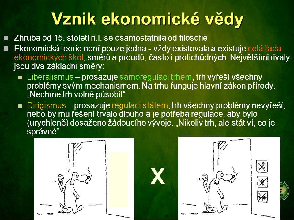 X Vznik ekonomické vědy