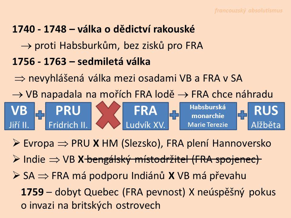 VB PRU FRA RUS 1740 - 1748 – válka o dědictví rakouské