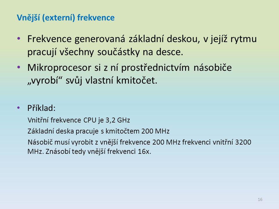 Vnější (externí) frekvence