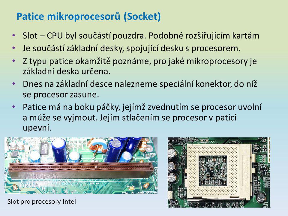 Patice mikroprocesorů (Socket)