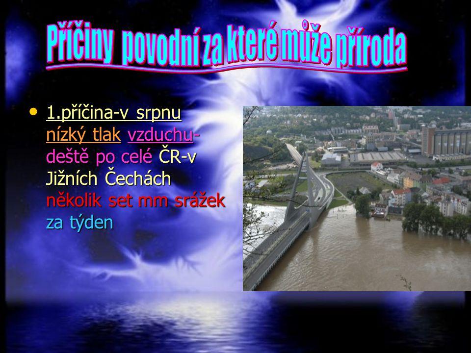 Příčiny povodní za které může příroda
