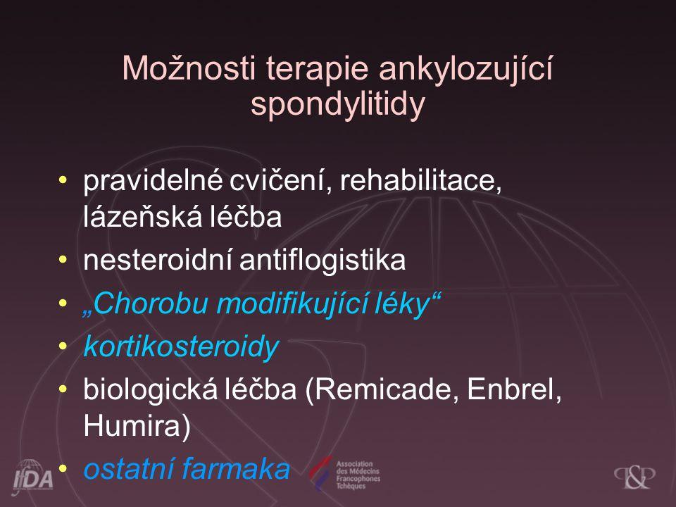 Možnosti terapie ankylozující spondylitidy
