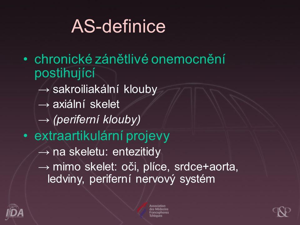 AS-definice chronické zánětlivé onemocnění postihující
