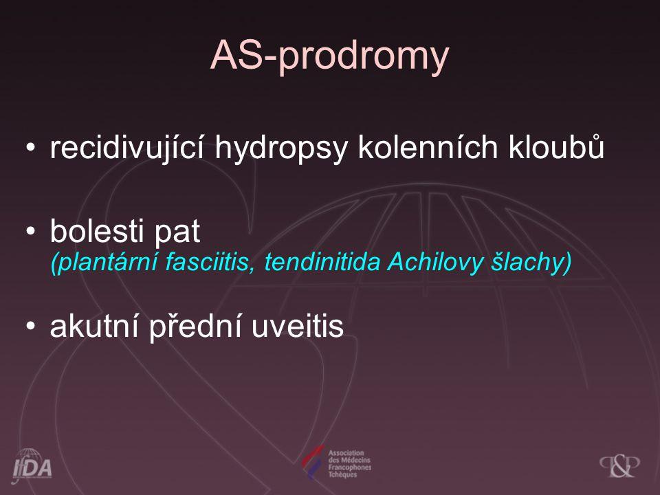 AS-prodromy recidivující hydropsy kolenních kloubů