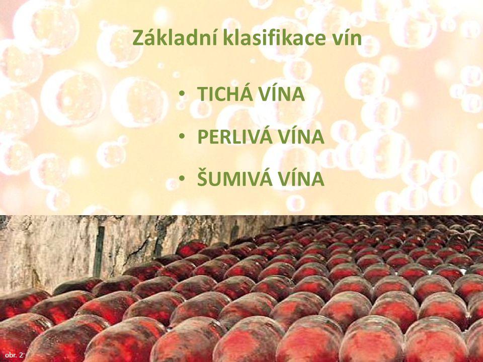 Základní klasifikace vín