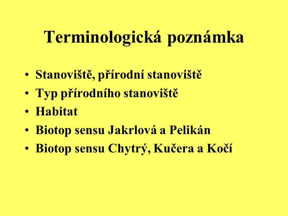 Terminologická poznámka