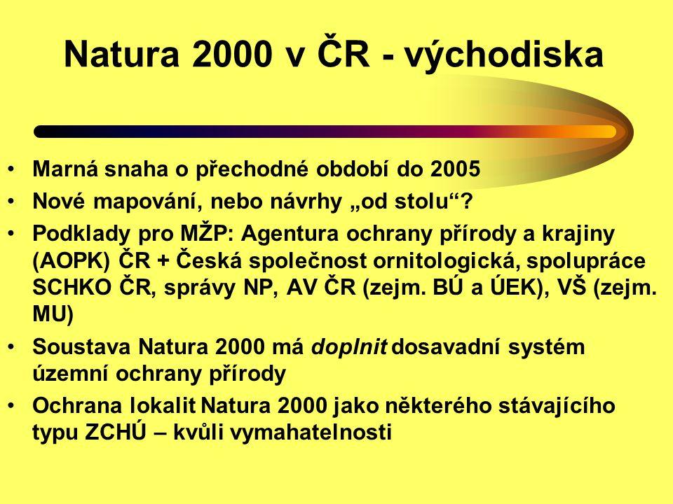 Natura 2000 v ČR - východiska