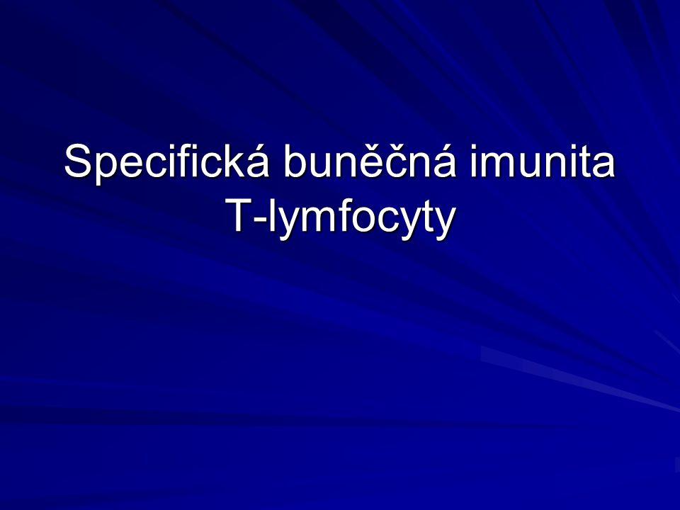 Specifická buněčná imunita T-lymfocyty