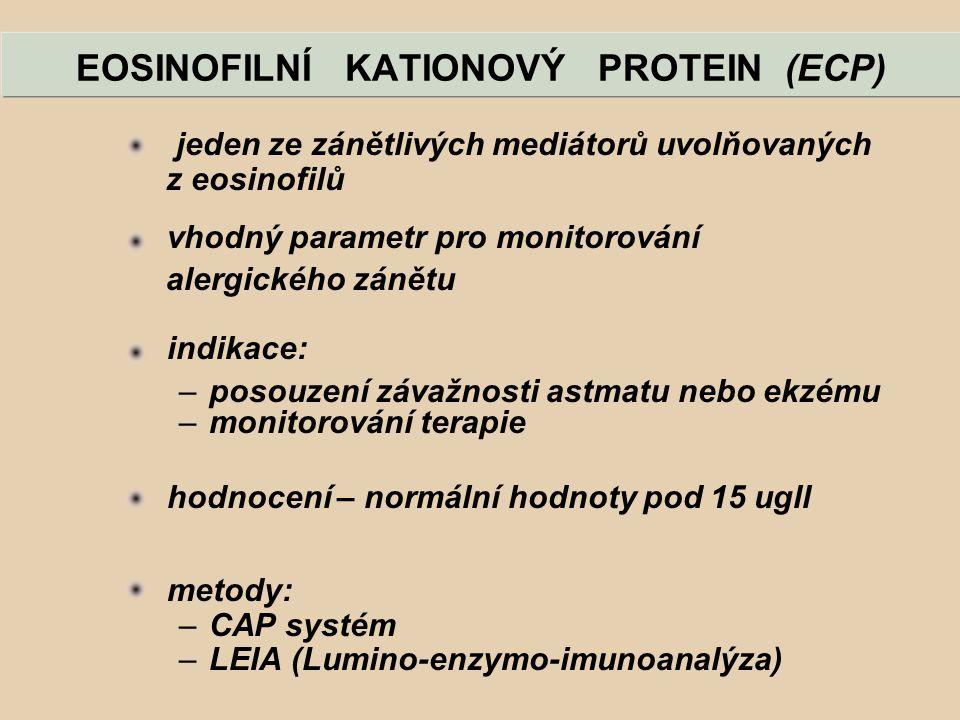 EOSINOFILNÍ KATIONOVÝ PROTEIN (ECP)