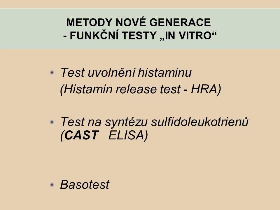 """- FUNKČNÍ TESTY """"IN VITRO"""