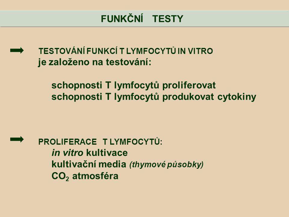 je založeno na testování: schopnosti T lymfocytů proliferovat