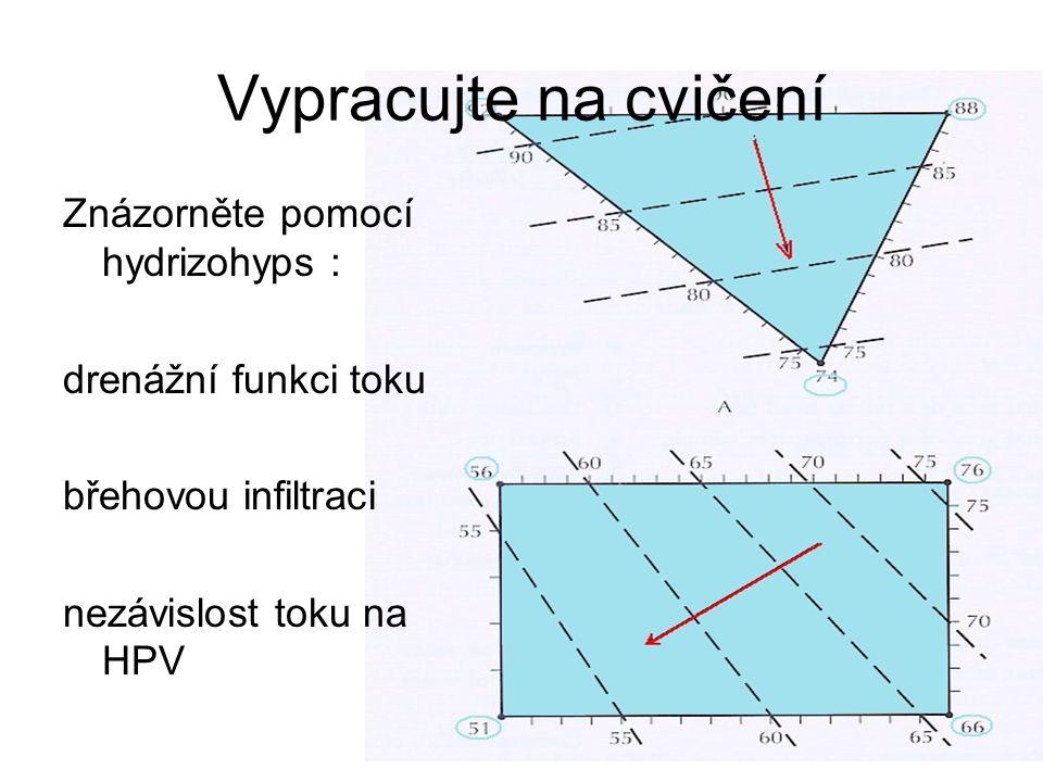 Vypracujte na cvičení Znázorněte pomocí hydrizohyps :