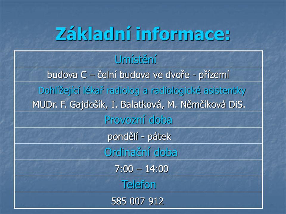 Základní informace: Umístění