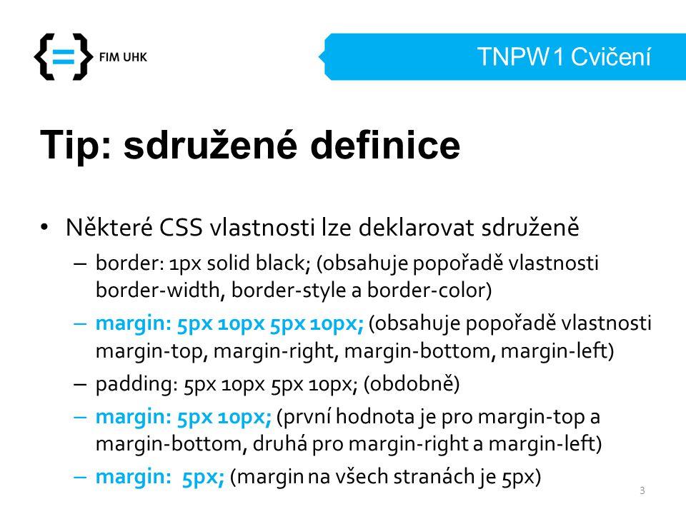 Tip: sdružené definice