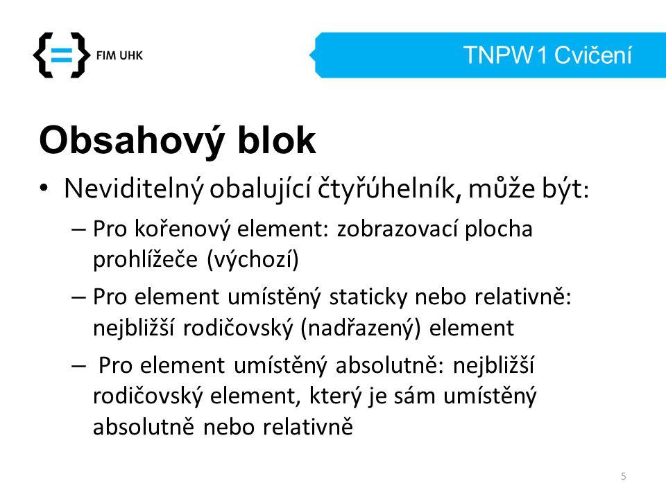 Obsahový blok Neviditelný obalující čtyřúhelník, může být: