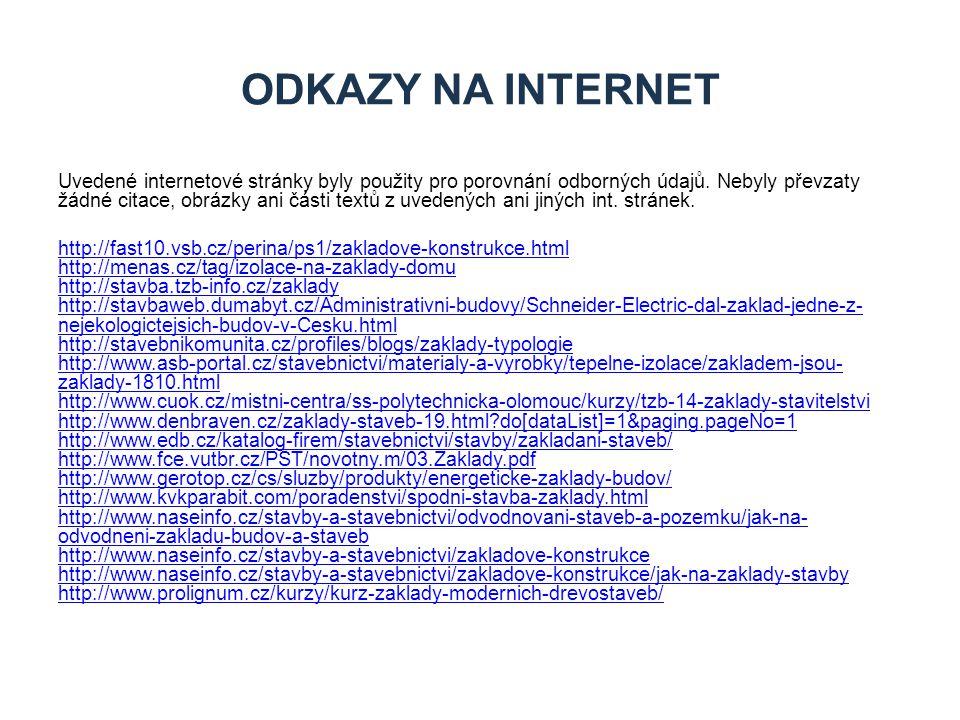 ODKAZY NA Internet