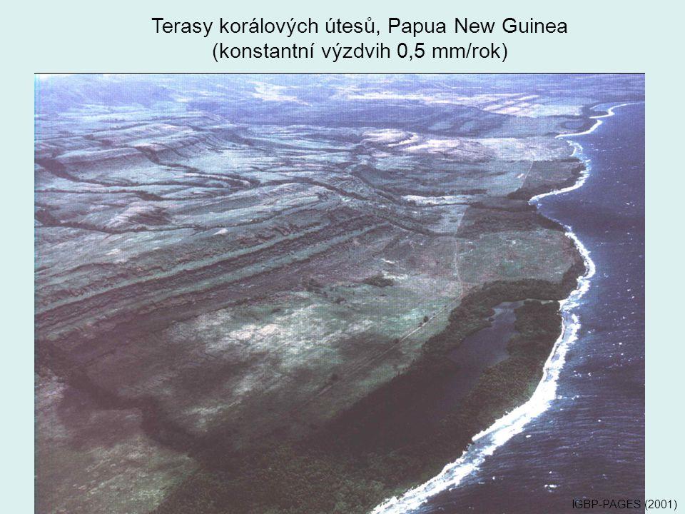 Terasy korálových útesů, Papua New Guinea
