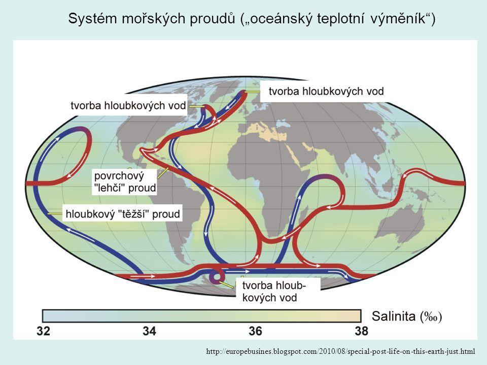 """Systém mořských proudů (""""oceánský teplotní výměník )"""