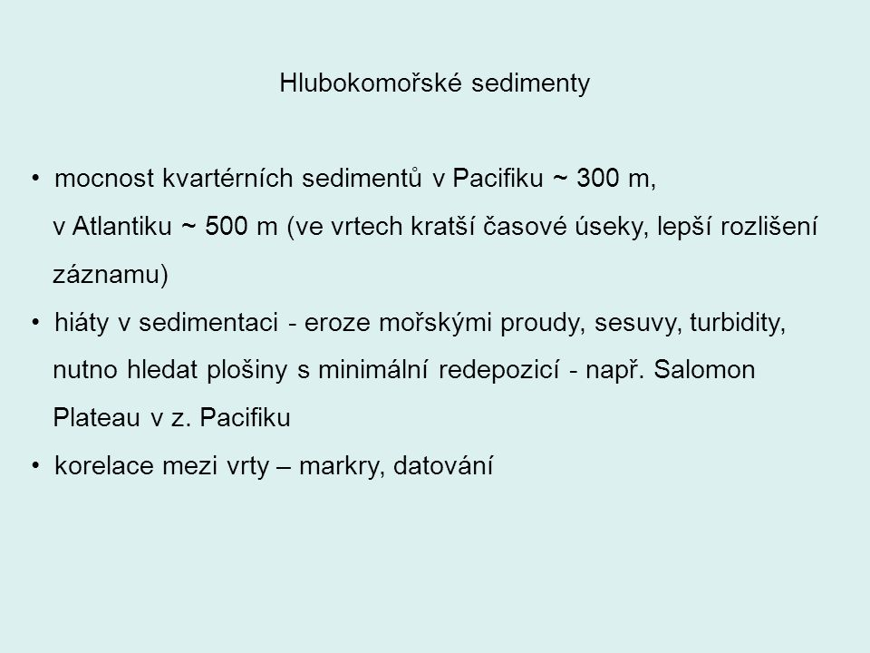 Hlubokomořské sedimenty