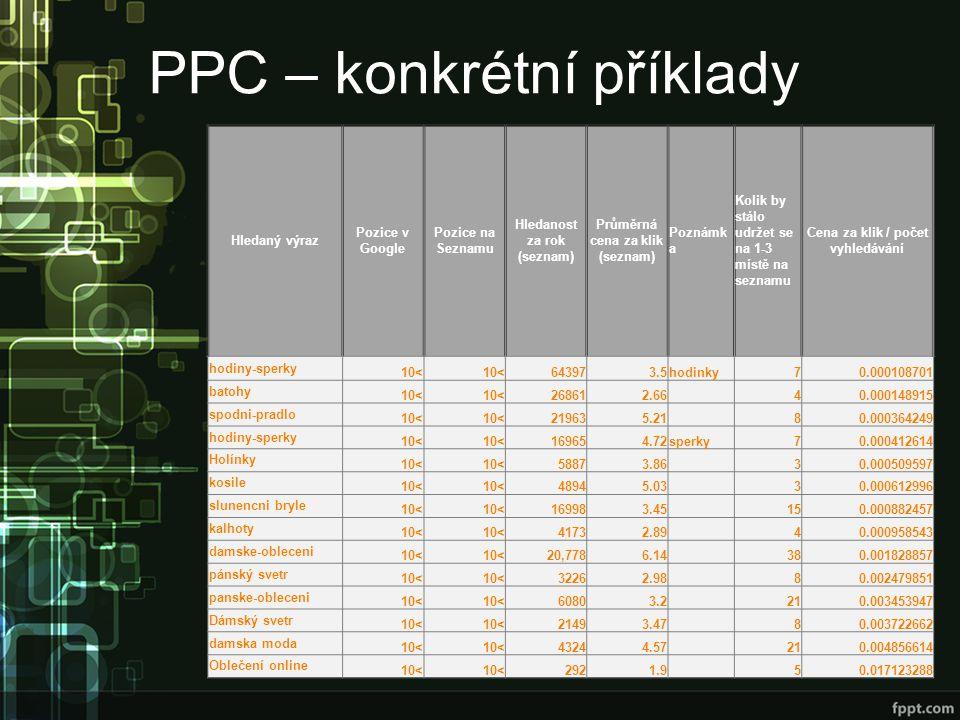PPC – konkrétní příklady