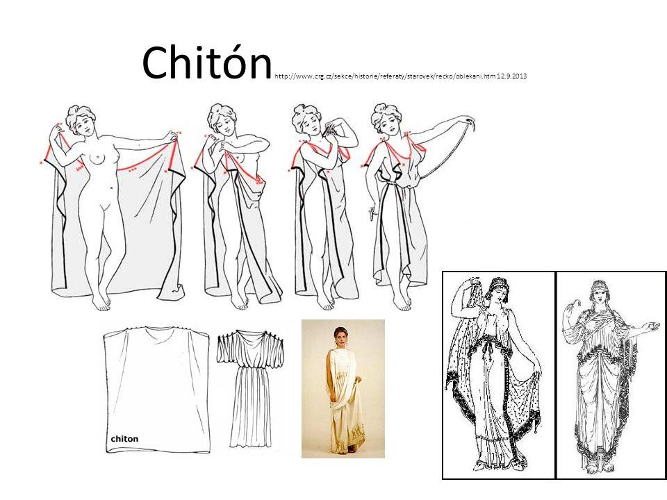 Chitónhttp://www.crg.cz/sekce/historie/referaty/starovek/recko/oblekani.htm 12.9.2013