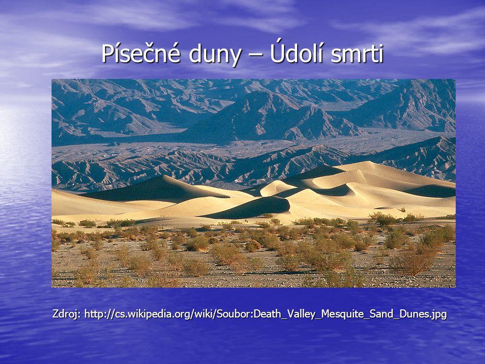Písečné duny – Údolí smrti