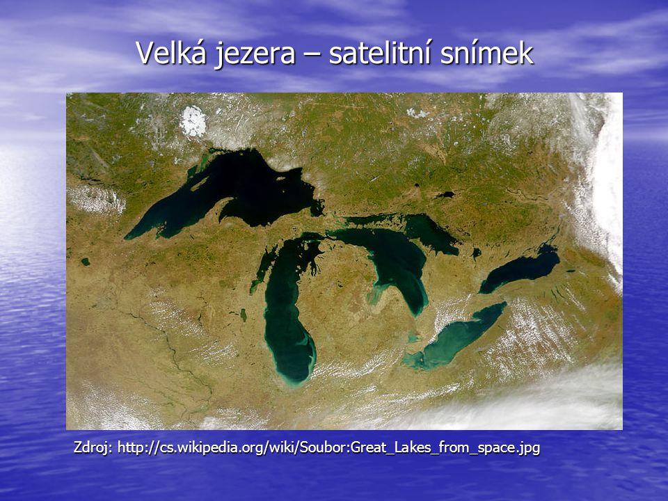 Velká jezera – satelitní snímek