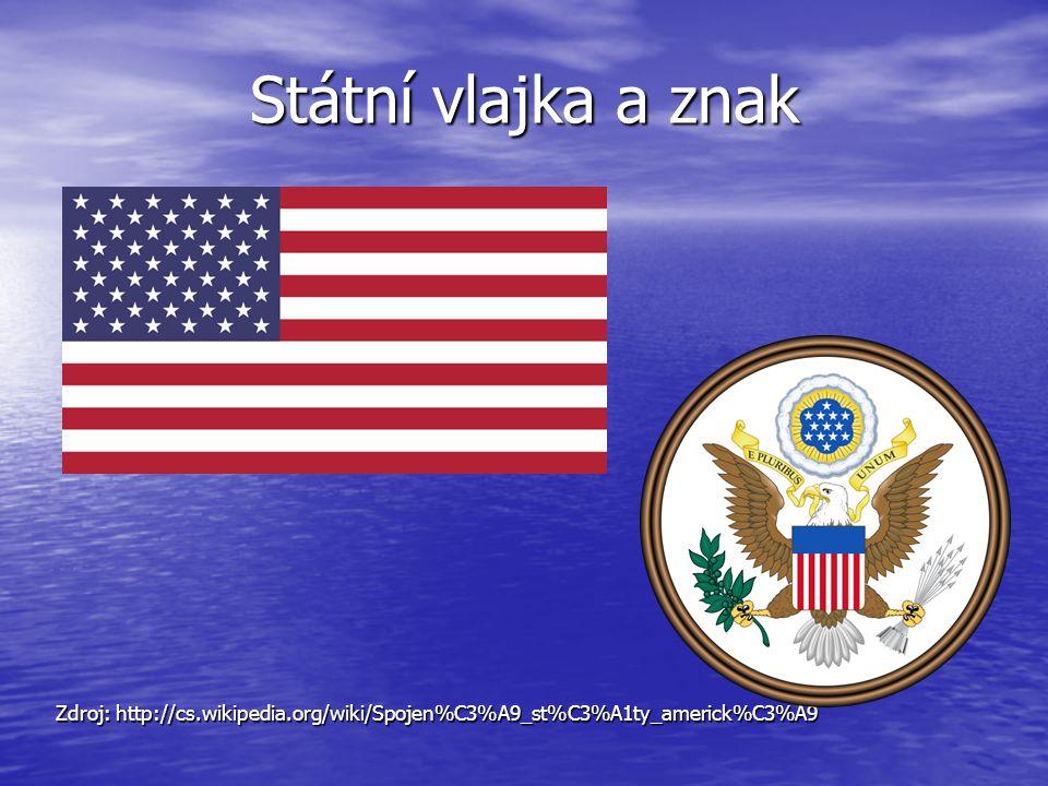 Státní vlajka a znak Zdroj: http://cs.wikipedia.org/wiki/Spojen%C3%A9_st%C3%A1ty_americk%C3%A9