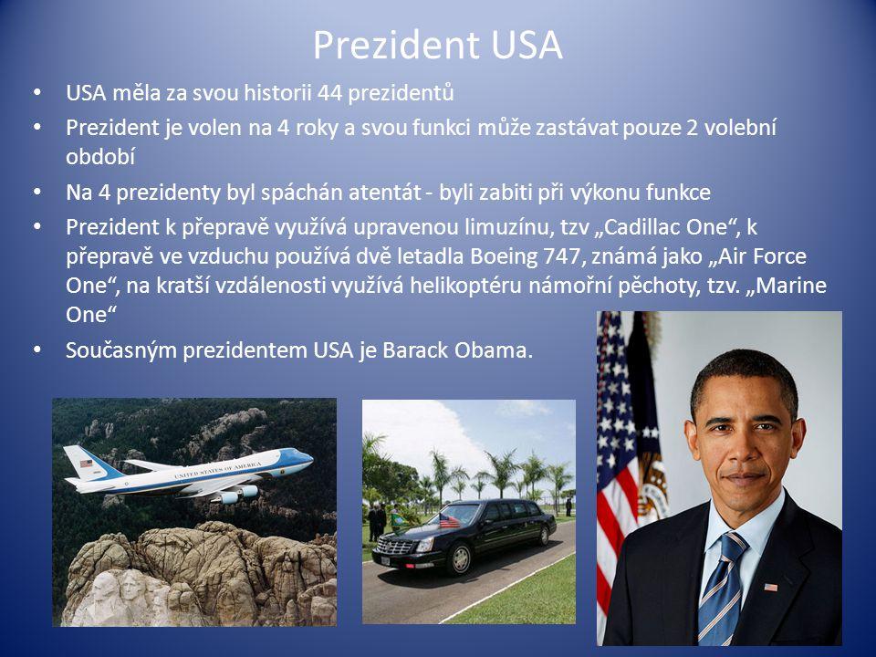 Prezident USA USA měla za svou historii 44 prezidentů