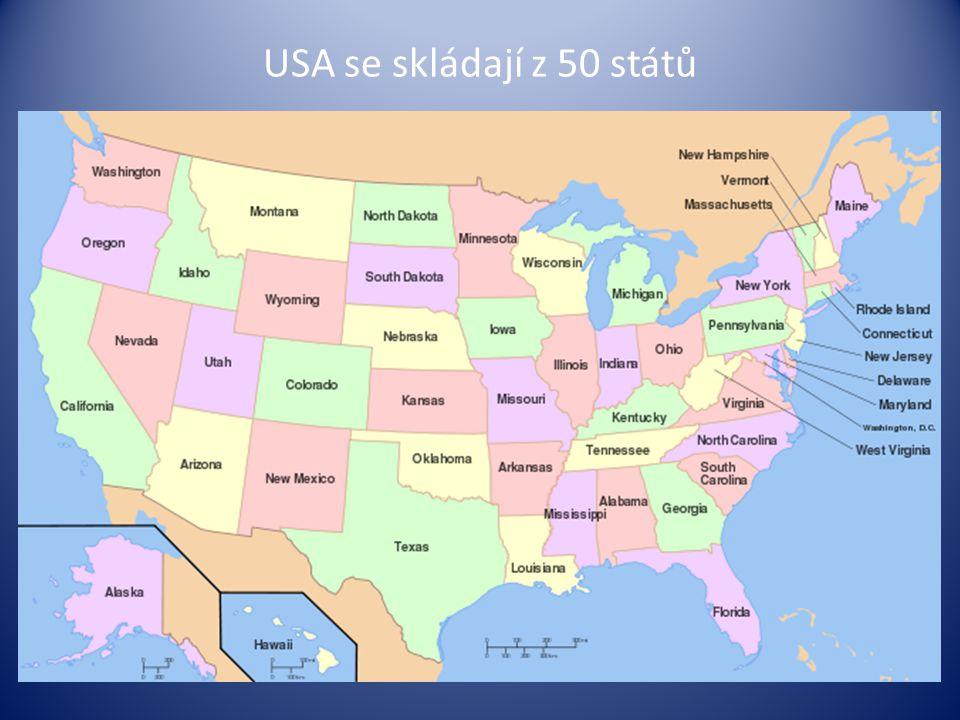 USA se skládají z 50 států