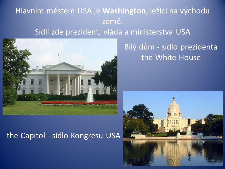 Bílý dům - sídlo prezidenta