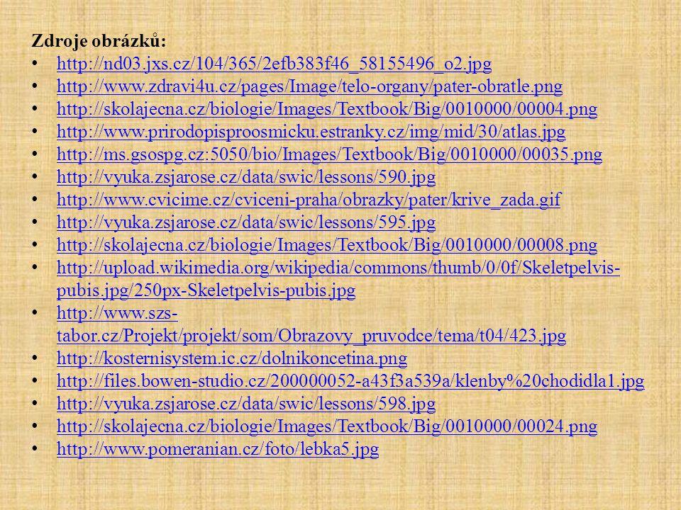 Zdroje obrázků: http://nd03.jxs.cz/104/365/2efb383f46_58155496_o2.jpg. http://www.zdravi4u.cz/pages/Image/telo-organy/pater-obratle.png.