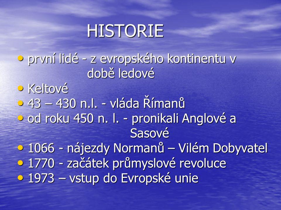 HISTORIE první lidé - z evropského kontinentu v době ledové Keltové