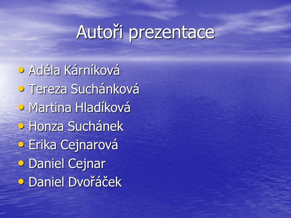 Autoři prezentace Adéla Kárníková Tereza Suchánková Martina Hladíková