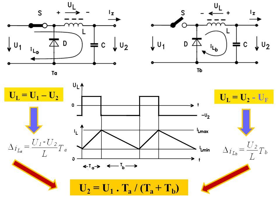 UL = U1 – U2 UL = U2 - UF U2 = U1 . Ta / (Ta + Tb)