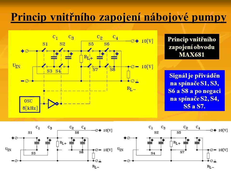Princip vnitřního zapojení nábojové pumpy