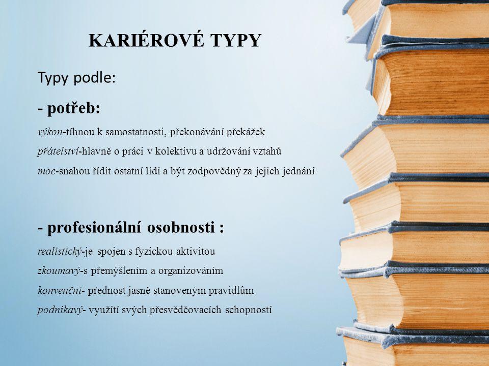 KARIÉROVÉ TYPY