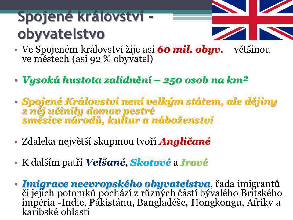 Spojené království - obyvatelstvo