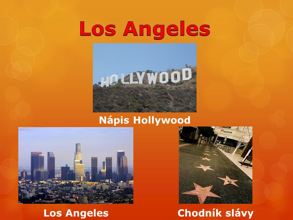 Los Angeles Nápis Hollywood Los Angeles Chodník slávy