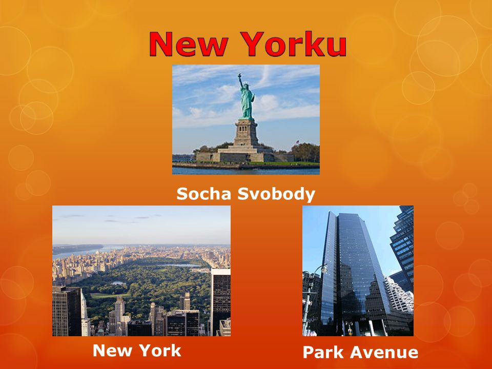 New Yorku Socha Svobody New York Park Avenue