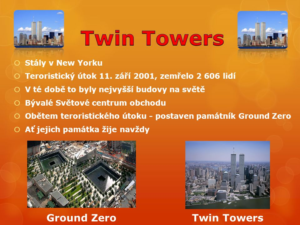 Twin Towers Ground Zero Twin Towers Stály v New Yorku